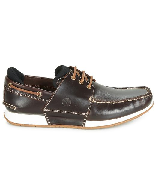 Timberland Leather Heger's Bay 3 Eye Boat Men's Boat Shoes