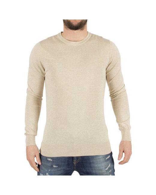 J.Lindeberg | Natural Men's Mikael Logo Knit, Beige Men's Sweater In Beige for Men | Lyst