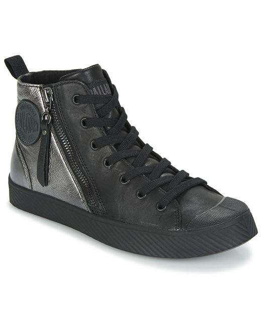Palladium - Pallaphoenix Women's Shoes (high-top Trainers) In Black - Lyst