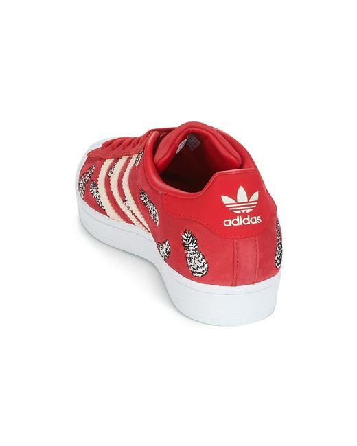 best website 6c7c5 45e7d ... Lyst Adidas - Superstar W Womens Shoes (trainers) In Red ...