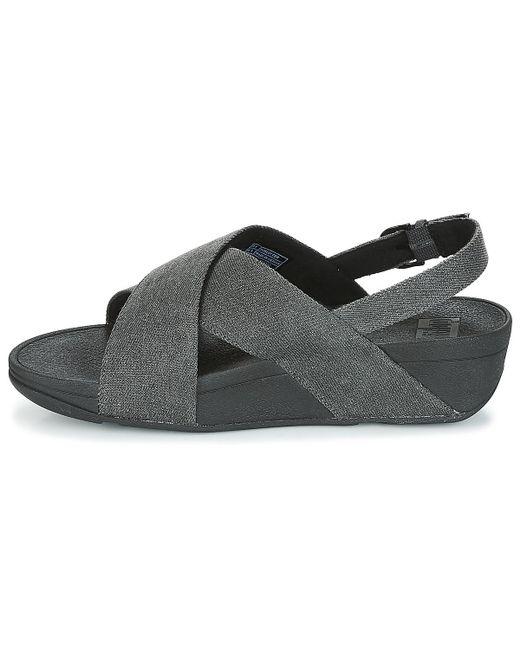 6ce887c22 ... Fitflop - Lulu Cross Back-strap Sandals Women s Sandals In Black ...