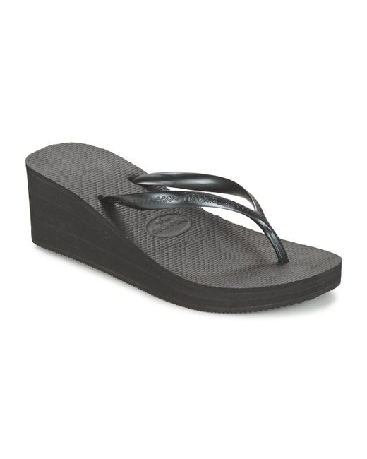 54a7262b35f Havaianas - High Fashion Women s Flip Flops   Sandals (shoes) In Black -  Lyst ...