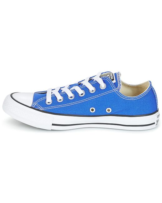 5f8910597853 ... Converse - Chuck Taylor All Star Ox Seasonal Colors Women s Shoes ( trainers) In Blue ...