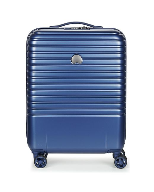 Delsey - Caumartin Plus Valise Trolley Cabine Slim 4 Doubles Roues 55 Cm Women's Hard Suitcase In Blue - Lyst