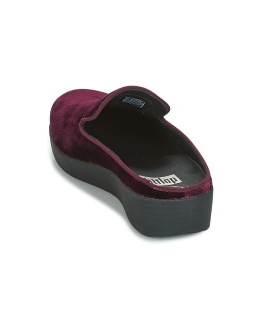 be55488bea9c ... Fitflop - Superskate Mules In Velvet Women s Mules   Casual Shoes In  Purple ...