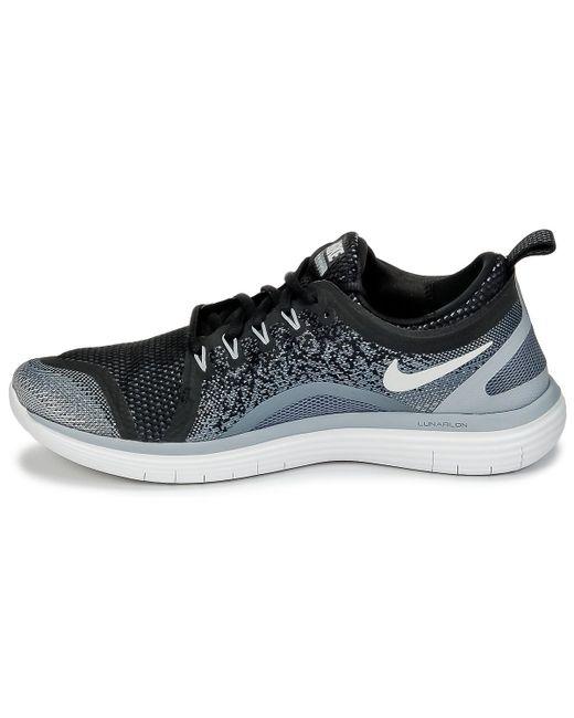 7c00913eccdf ... Lyst Nike - Free Run Distance 2 Men s Running Trainers In Black for Men  ...