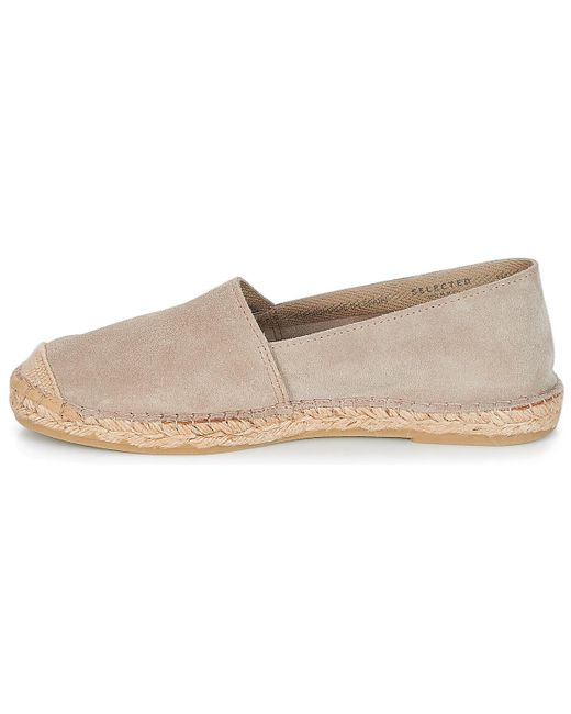 ... SELECTED | Natural Shhajo Suede Espadrilles Men's Espadrilles / Casual  Shoes In Beige for Men ...