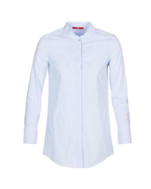 S.oliver - Oupacte Women's Shirt In Blue - Lyst