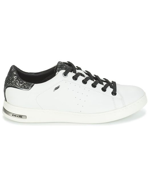 432f45459868 Geox White Leather 'jaysen' Trainers in White - Save ...