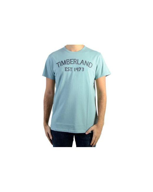 Timberland | T-shirt Tape Tee E42 Stone Blue Men's T Shirt In Blue for Men | Lyst