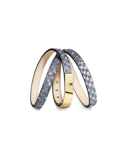 Ursul - Metallic Bracelet U-turn Triple Silver Silver Woman Autumn/winter Collec Women's Bracelet In Silver - Lyst