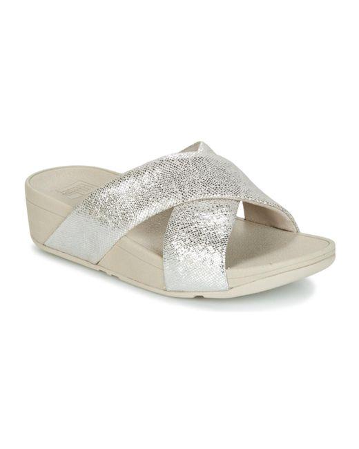 78e36306b1fc Fitflop - Metallic Swoop Slide Women s Mules   Casual Shoes In Silver ...