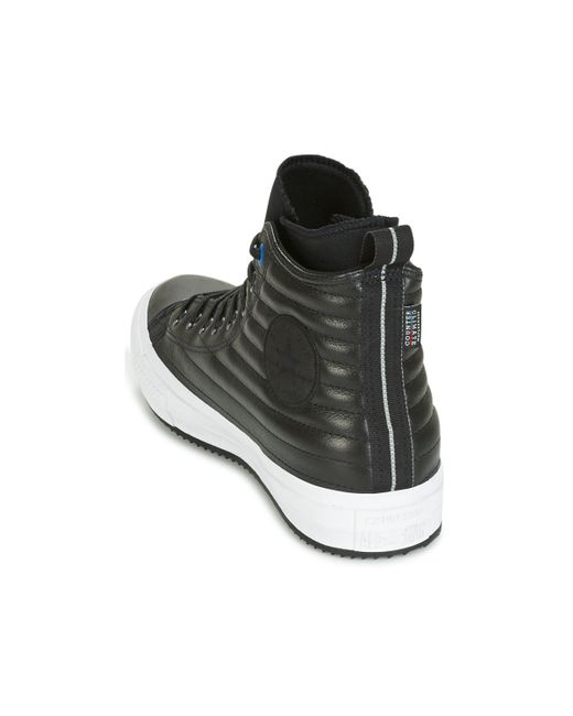 b31792b4cc84c3 ... Converse - Chuck Taylor Wp Boot Quilted Leather Hi Black blue Jay white  Shoes ...