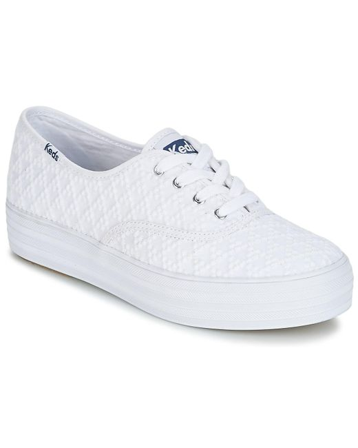 Keds - Triple Embroidered Triangle Women's Shoes (trainers) In White - Lyst