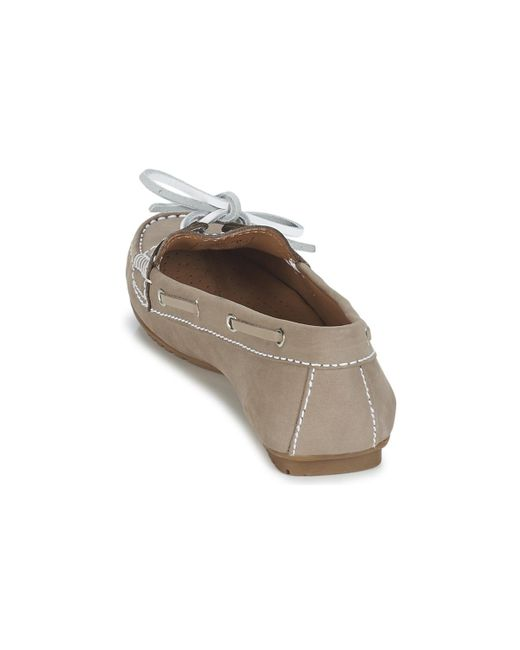 301db0990fb25 ... Lyst Sebago - Natural Meriden Two Eye Women's Loafers / Casual Shoes In  Beige ...