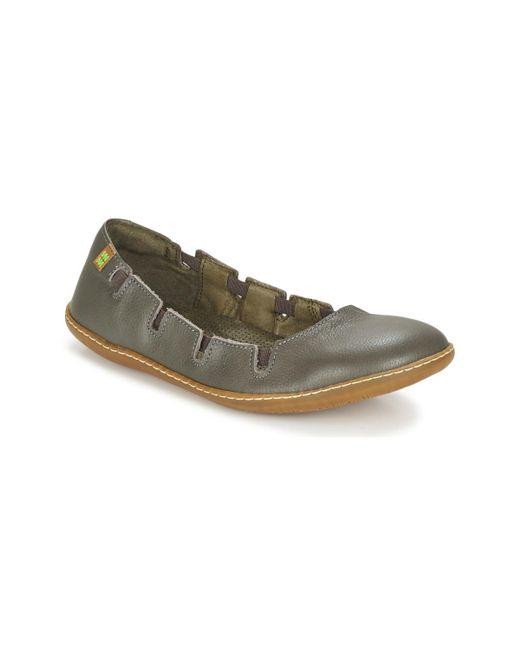 El Naturalista | Gray El Viajero Women's Shoes (pumps / Ballerinas) In Grey | Lyst
