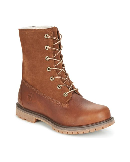 Timberland AUTHENTICS TEDDY FLEECE W women's Mid Boots in Free Shipping Pay With Visa Real XJCtq82
