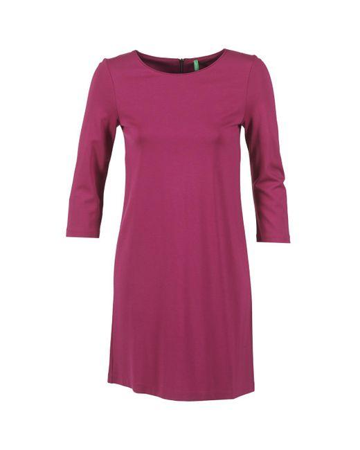 Benetton - Savoni Women's Dress In Purple - Lyst