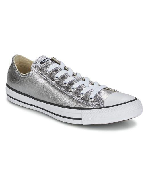 4130e477fa80 sale silver converse trainers df6c1 5125f
