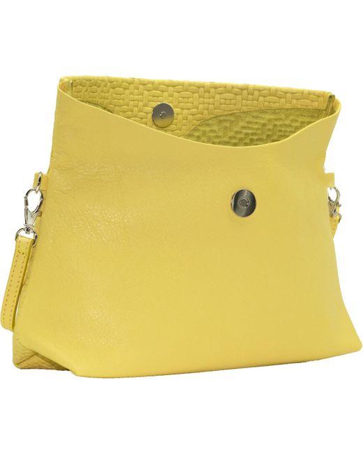 302a799b58 ... Ripauste By Paul Stephan - Yellow Pochette en cuir avec bandoulière  réglable femmes Sac à main