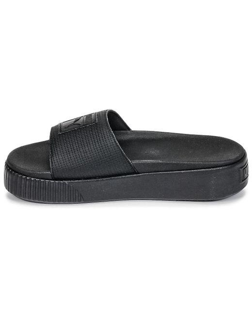 93549ce6c60 ... PUMA - Platform Slide Wns Ep Women s Mules   Casual Shoes In Black ...