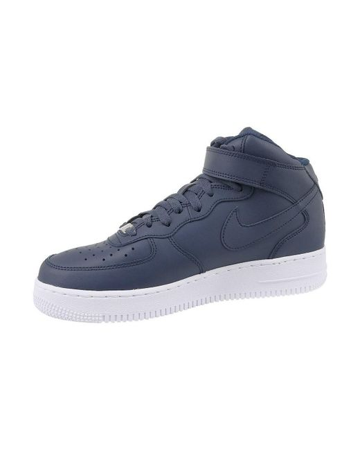 278bb1f7deb ... Nike - Blue Air Force 1 Mid 07 Men s Shoes (high-top Trainers) ...