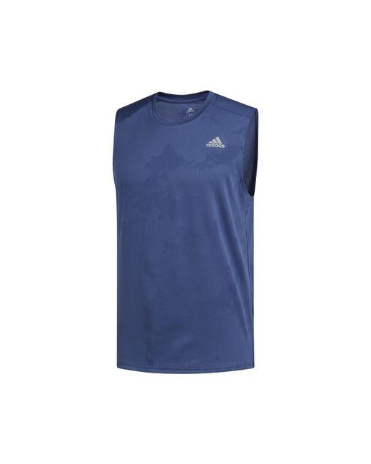 Adidas - Blue Response Men's Vest Top In Multicolour for Men - Lyst