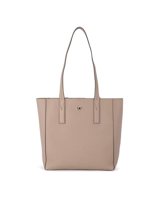 545646c0319 MICHAEL Michael Kors - Natural Junie Medium Truffle Leather Shoulder Bag.