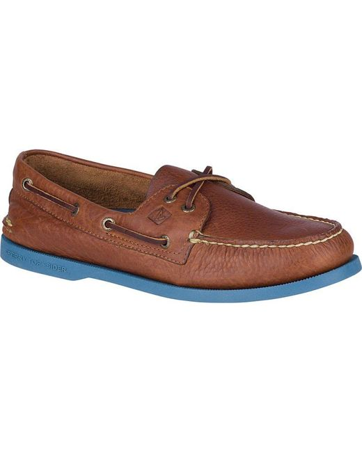 Sperry Top-Sider | Brown Men's Authentic Original Color Pop Boat Shoe for Men | Lyst