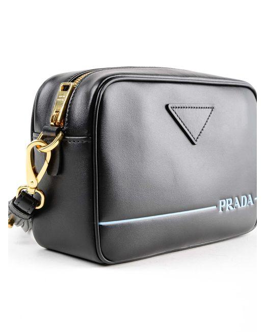 b885b50ede9f ... Prada - Black Shoulder Bag City Calf - Lyst ...