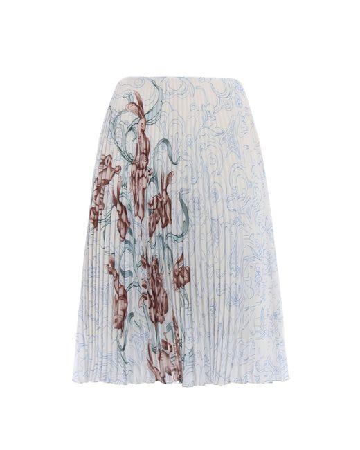 Prada - Multicolor Georgette Rabbit Liberty Skirt - Lyst