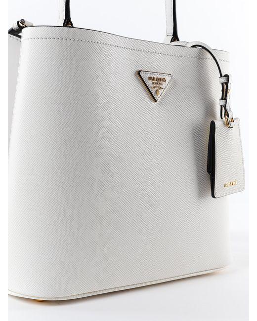30ebf35812c6 ... Prada - Multicolor Handbag Saffiano+city Calf - Lyst ...