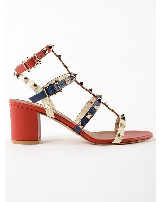 f5d8909379a Valentino - Multicolor Rockstud Sandal T.60 - Lyst ...
