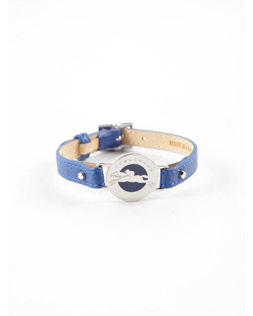Longchamp - Blue Le Pliage Cuir Bracelet - Lyst