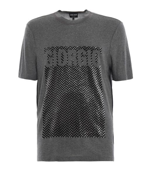 Giorgio Armani - Gray T-shirt for Men - Lyst