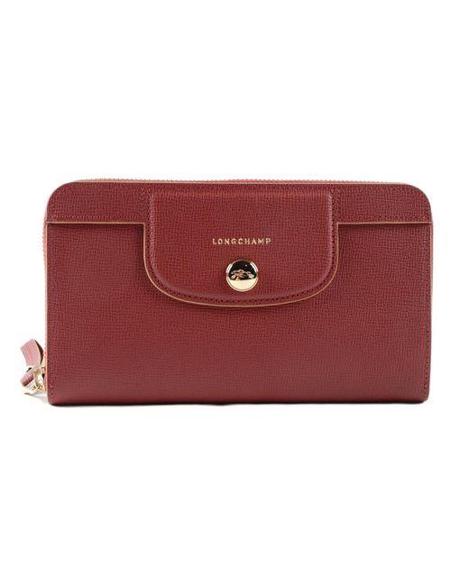 c9ebf0117384 Longchamp - Red Le Pliage Heritage Wallet - Lyst ...