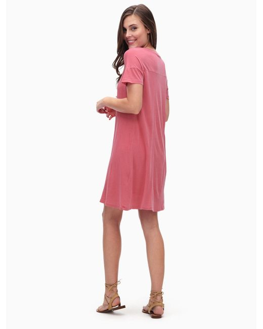 Splendid | Pink Vintage Whisper T-shirt Dress | Lyst