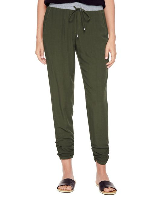 Splendid | Green Rouched Leg Trouser | Lyst