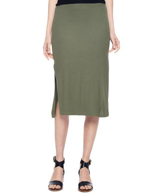 Splendid   Green Midi Pencil Skirt   Lyst