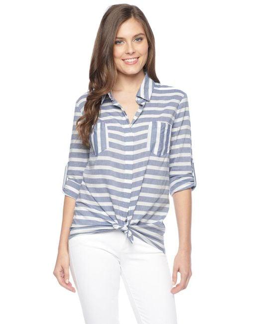 Splendid | Blue Capri Rugby Shirt | Lyst
