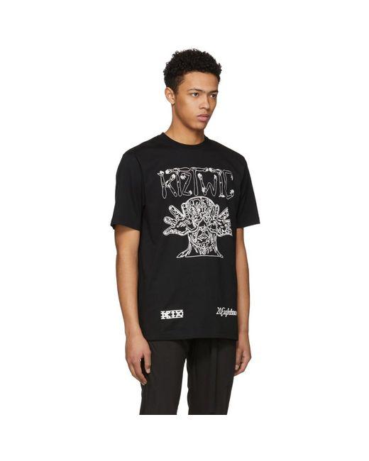Carne Ktz Hombres Camiseta Brazo Para Lyst Negro PxEFwf