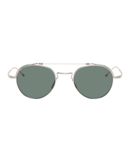 c2e7bd959ee7 Thom Browne - Metallic White Gold And Silver Tbs912 Sunglasses for Men -  Lyst ...