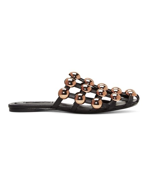 Alexander Wang - Black Amelia Cage Slippers - Lyst