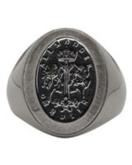 Alexander McQueen | Metallic Silver Signet Ring for Men | Lyst
