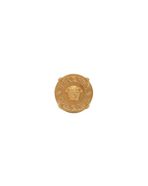Versace - Metallic Gold Round Medusa Ring for Men - Lyst
