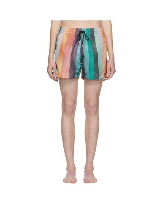 Paul Smith - Multicolor Classic Multistripe Swim Shorts for Men - Lyst