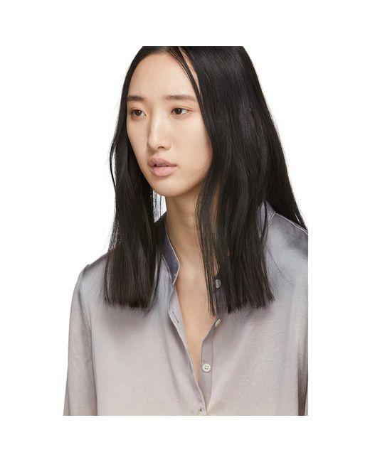 eea8a72f230c45 ... Raquel Allegra - Multicolor Silver Tie-dye Silk Shirt - Lyst ...