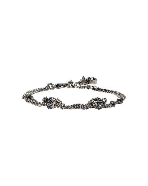 Alexander McQueen - Metallic Gunmetal Multi Chain Bracelet - Lyst
