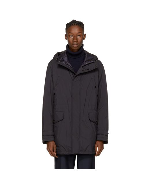 Moncler - Blue Navy Down Bresle Jacket for Men - Lyst