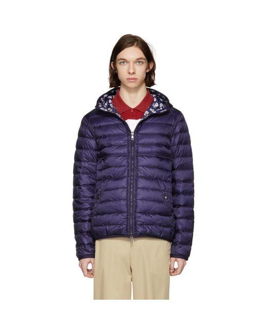 Moncler - Blue Reversible Navy Down Oise Jacket for Men - Lyst